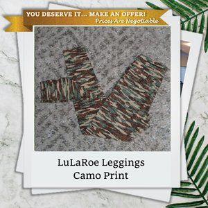 LuLaRoe OS Camo Leggings